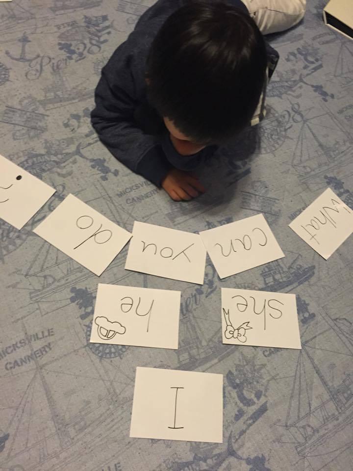 【ママの声】授業で使ってたカードをマネして作ってみました!